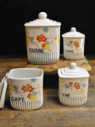 vintage kitchen canister sets 1065 best canisters images on vintage kitchen