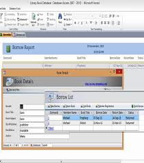 database template ms access templates book library database exles access