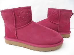 ugg womens boots pink ugg womens boots 7 8 mini 1017228 nib
