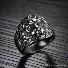 silver lion ring holder images Fashion day jewelry mens crazy lion design silver stainless steel jpg