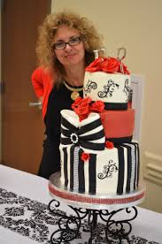 eric and regina u0027s black white and red wedding cake yaya sweets