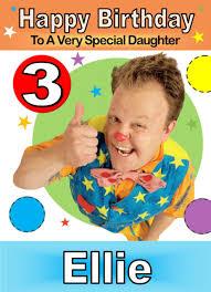 mr tumble cbeebies birthday card any name age relative