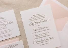 blush and gold wedding invitations the hydrangea suite classic letterpress wedding invitation suite