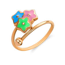 baby rings images Buy gold baby ring quot rainbow tristar quot kids 39 jewelry boutique zarlex jpg