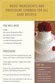basic sponge cake recipe delicious u0026 easy to follow recipes buddy