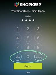 using the time clock backoffice shopkeep support