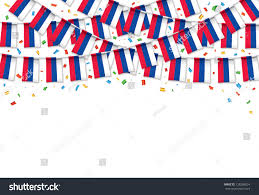 Flags For Sale South Africa Russian Flags Garland White Background Confetti Stock Vector