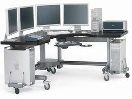 Corner Workstation Desk by Elegant Computer Workstation Desk With Floating Computer