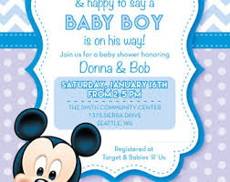 mickey mouse baby shower invitations baby shower invitation cards baby mickey mouse baby shower