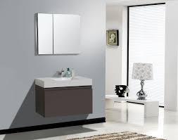 Modern Bath Rug In Vogue Small Floating Gray Bathroom Vanity With Single Washbasin