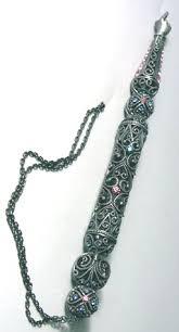torah yad israel book shop jeweled torah pointer yad pewter filigree