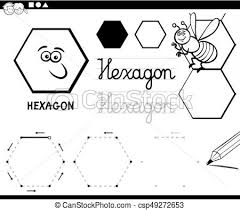 clipart vector hexagon basic geometric shapes coloring