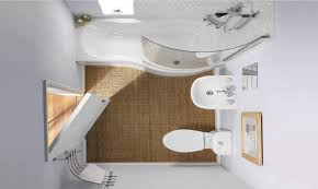 perfect small bathroom design idea in white interior nuance with
