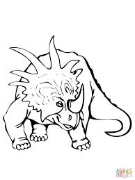 styracosaurus dinosaur coloring page free printable coloring pages