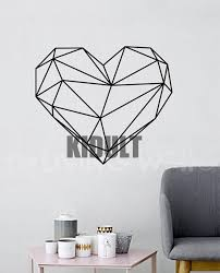 compare prices on heart interiors online shopping buy low price multicolor geometry heart wall sticker home interiors decorated living room bedroom wall plane of high