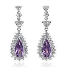 amethyst earrings silver amethyst earrings ebay