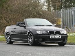 used bmw 3 series uk used black bmw 3 series 2006 petrol 318 ci m convertible in great