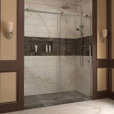 heavy glass shower door dreamline enigma x 56 60 in width frameless sliding shower door
