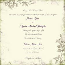 wedding invitation format wedding invitation exles plumegiant
