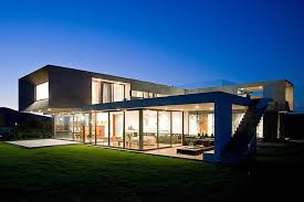 big house design u shaped house with glass lower floor and concrete upper