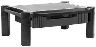 stand v000c vivo height adjustable computer monitor stacked desk