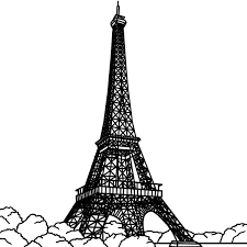 eiffel tower art on paris paris art and tour eiffel clipart