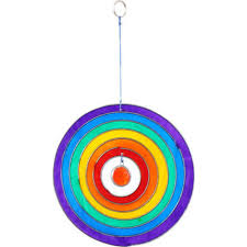 ebay stained glass ls rainbow sun catcher full circle mobile 12cm hanging stained glass