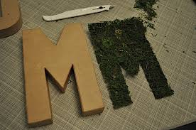 moss covered letters how to make moss covered letters