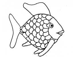 kids printable rainbow fish coloring page free creative kids