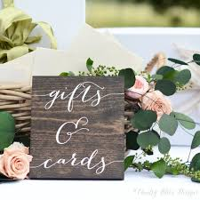 wedding gift table sign gifts and cards sign wedding gift table by countryblissdesigns