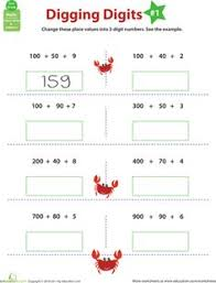 practice place value place values worksheets and 2nd grades