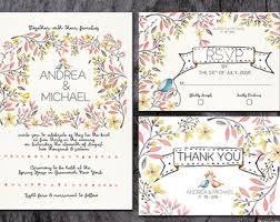cheap wedding invitation kits wedding invitation kits etsy
