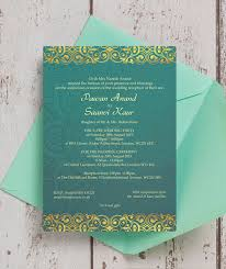 asian wedding invitation teal gold indian asian wedding invitation from 1 00 each