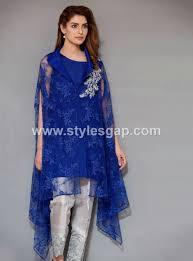 Cape Designs by Latest Pakistani Cape Style Dresses 2017 2018 Top Designer Collection