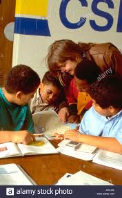after school study tutor and youths age 20 and 10 in community after school study