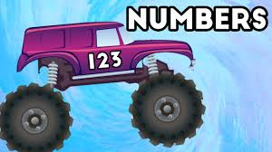 monster trucks kids video learn to count numbers 1 to 10 educational monster truck kids