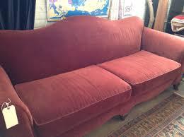 camelback sofa slipcovers vintage burgundy camel back sofa price reduction sold diy