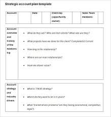 account planning template strategic account plan template free