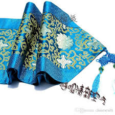 luxury damask table runner high end luxury china knot patchwork turquoise damask table runners