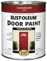 rust oleum stops rust cranberry door paint 1 qt at menards