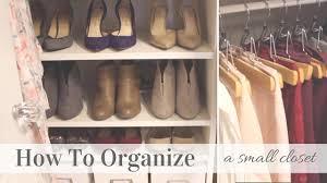 how to organize a small closet konmari method inspiration youtube