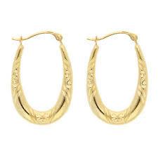 yellow gold earrings unbranded hoop yellow gold 14k earrings ebay