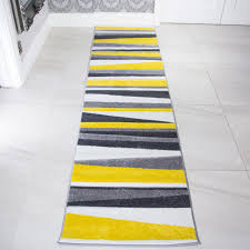 Yellow Runner Rug Shining Yellow Runner Rug Fetching Modern Grey Striped