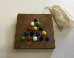 cracker barrel table game solitaire game etsy
