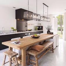 kitchen table island ideas 460 best cuisines aménagement déco images on kitchen