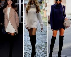 sweater dress with boots naf dresses