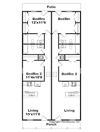 floor plans for narrow lots narrow lot duplex j1690 15d