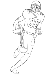 Football Player Coloring Pages Free Printable Football Player Football Coloring Page
