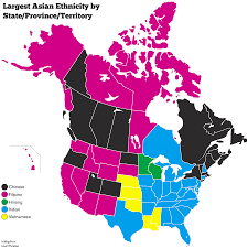 Blank Map Of Canada Provinces And Territories by Largest Asian Ethnicity By State Province Territory Maps Pinterest