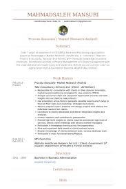 Mis Resume Samples by Process Associate Resume Samples Visualcv Resume Samples Database